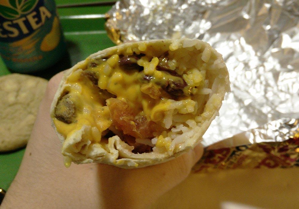 """Burritos """"El Torero"""" plutôt... très bien garni !"""