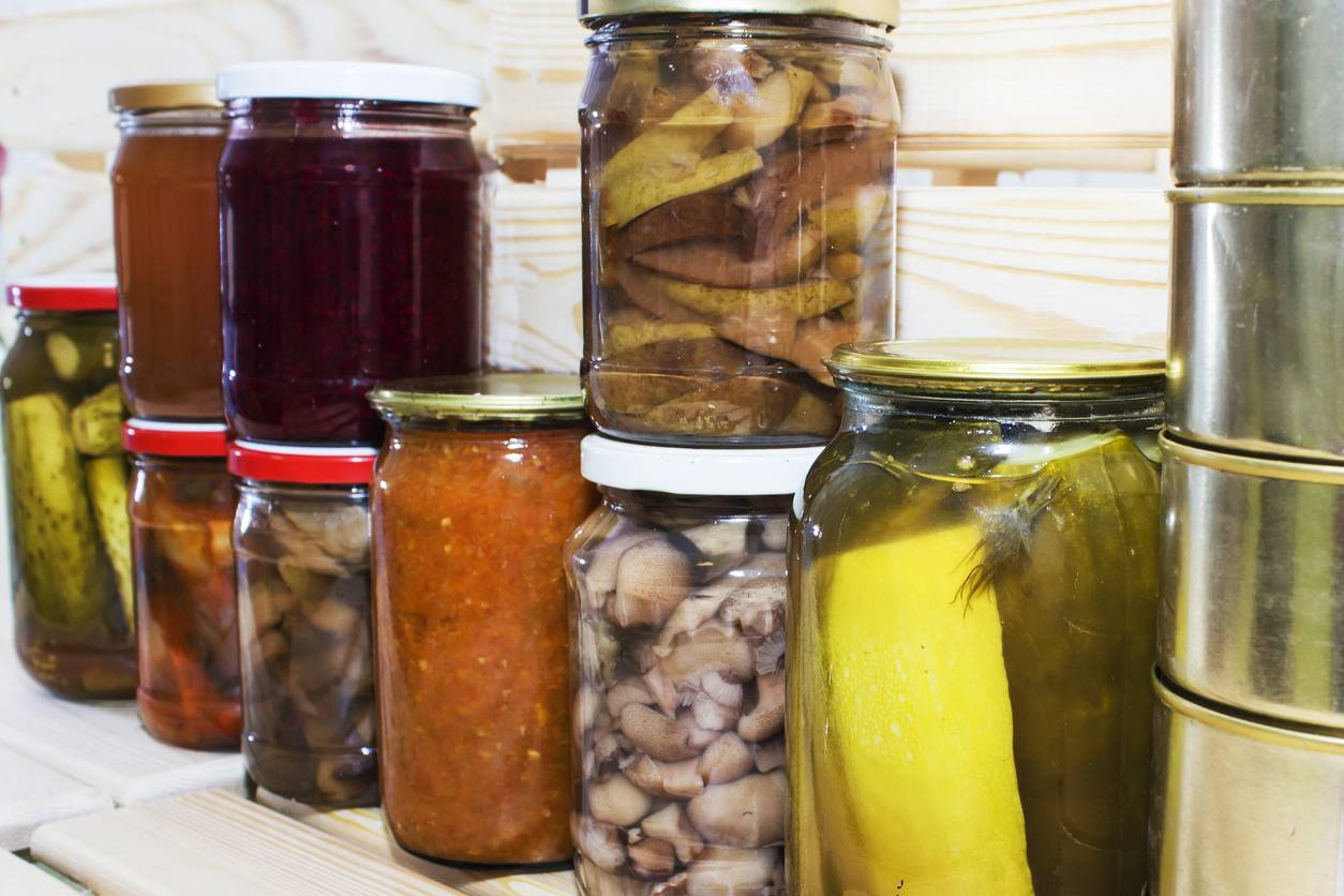 Conservation aliments bocaux bouteilles